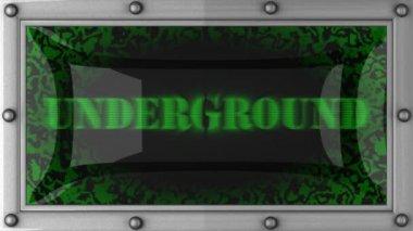 Underground on led — Stock Video