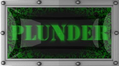 Plunder on led — Stock Video