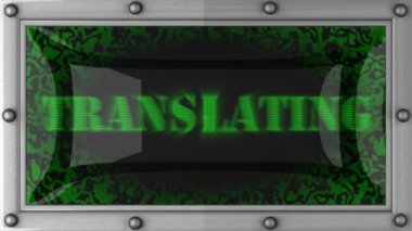 Translating on led — Vídeo Stock