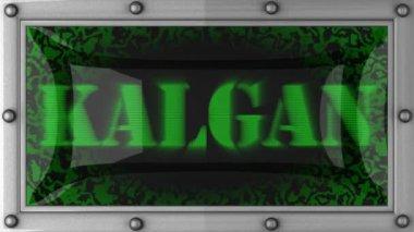 Kalgan on led — Stock Video