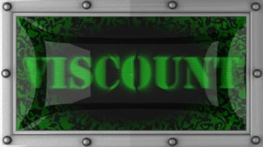 Viscount on led — Stock Video