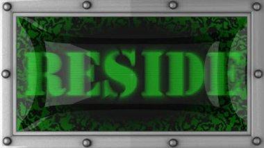 Reside on led — Stock Video