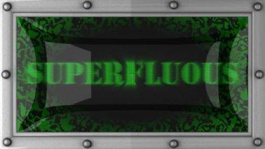Superfluo ha portato via — Video Stock