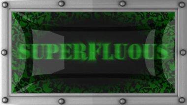 Superfluous on led — Vídeo de stock
