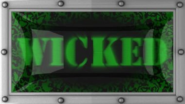 Wicked on led — Video Stock