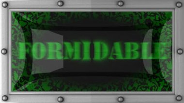 Formidable on led — Stok video