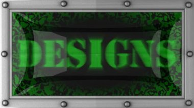 Designs on led — Stock Video