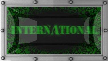 International på led — Stockvideo