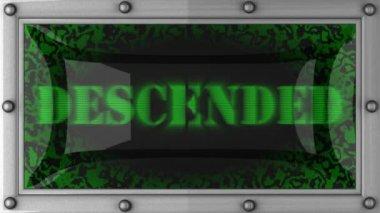 Descended on led — Stock Video