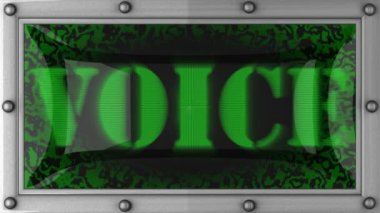 Voice on led — Stock Video
