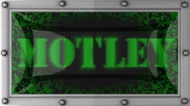 Motley on led — Stock Video