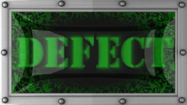 Defect on led — Video Stock