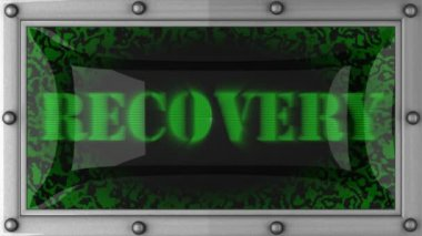 Recovery on led — Stockvideo