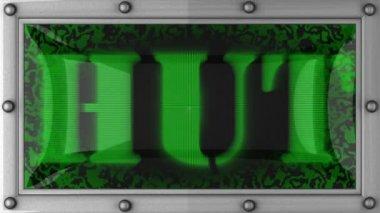 Hut on led — Stock Video