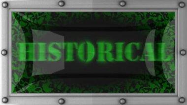 Historische geführt — Stockvideo