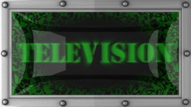 Television on led — Stock Video
