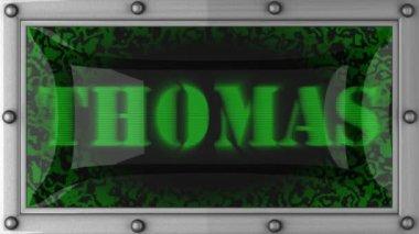 Thomas on led — Stock Video