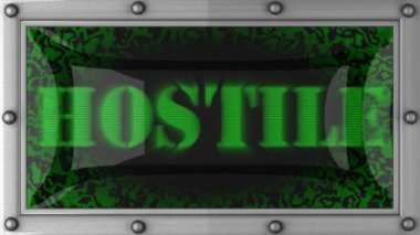 Hostile on led — Stock Video
