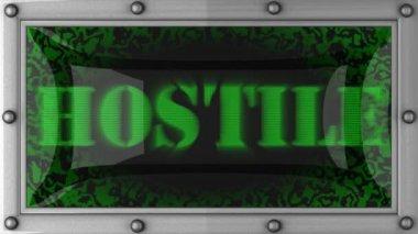 Hostile on led — Stock Video