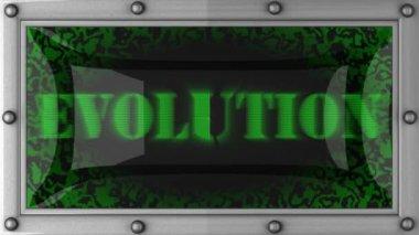 Evolution on led — Stock Video