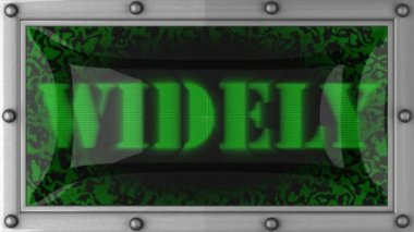 Widely on led — Vídeo de stock