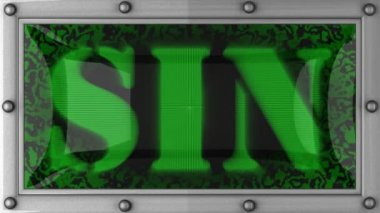 Sin on led — Stock Video