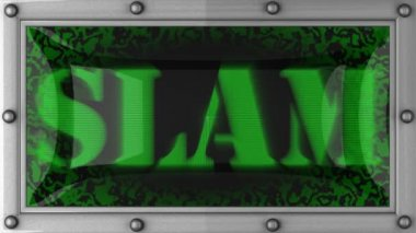 Slam on led — Stock Video