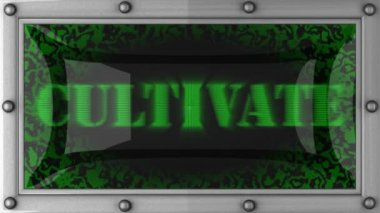 Cultivate on led — Stockvideo