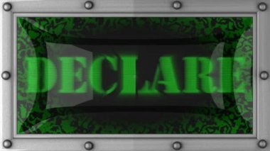 Declare on led — Stock Video