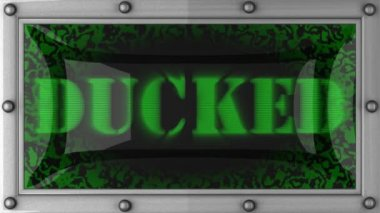 Ducked on led — Stock Video