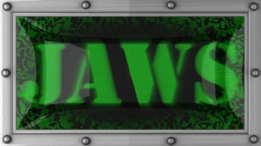 Jaws on led — Wideo stockowe