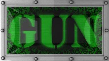 Gun on led — Stock Video