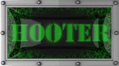 Hooter on led — Stock Video