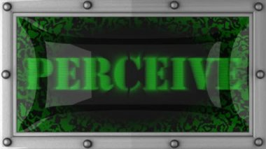Perceive on led — Stock Video
