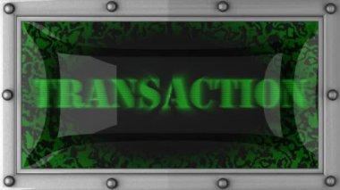 Transaction on led — Stock Video