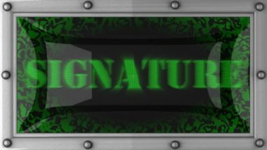 Signature on led — Stock Video #14018935