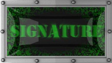 Assinatura em led — Vídeo Stock