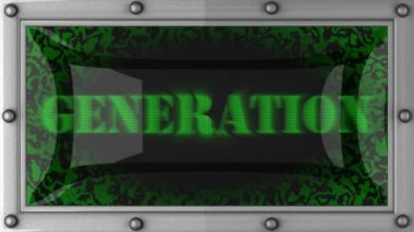 Generation on led — Stock Video