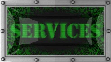 Serviços em led — Vídeo Stock
