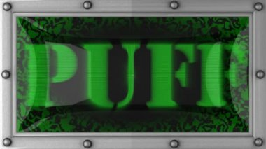 Puff on led — Stock Video