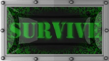 Survive on led — Vídeo Stock