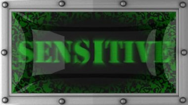 Sensitive on led — Stockvideo