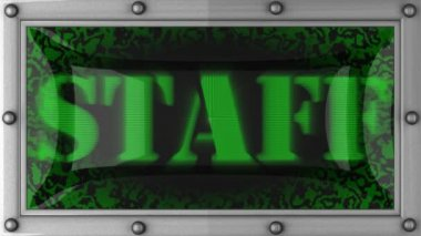 Staff on led — Stock Video