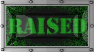 Raised on led — Stock Video