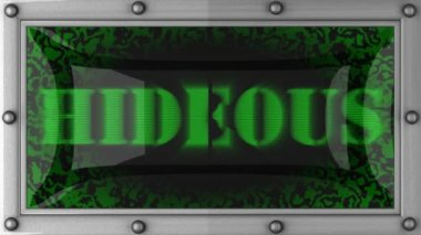 Hideous on led — Video Stock