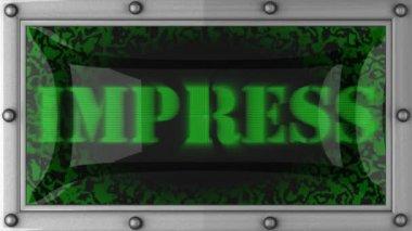 Impress on led — Stock Video