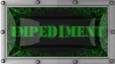 Impediment on led — Stock Video