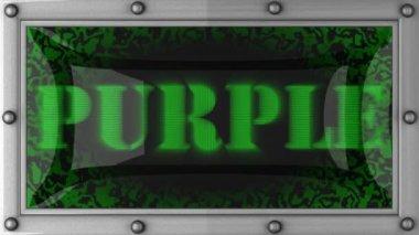 Purple on led — Stock Video