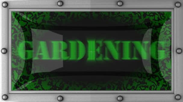 Jardinería en led — Vídeo de stock