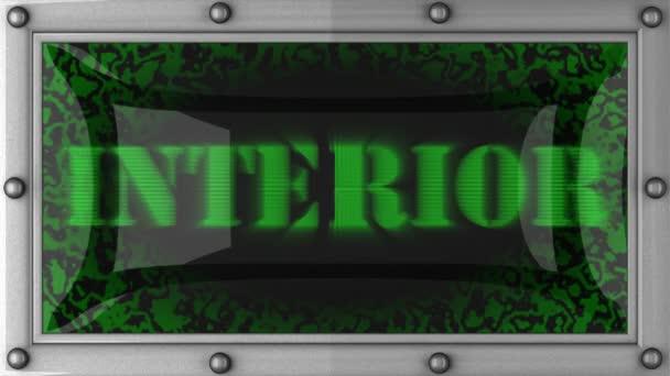 Interior en led — Vídeo de stock